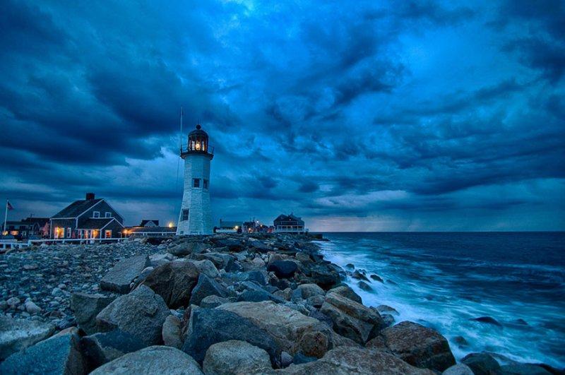 Старый маяк, построенный в 1810 году, Скайтуат, штат Массачусетс, США. Фото: Франциско Марти