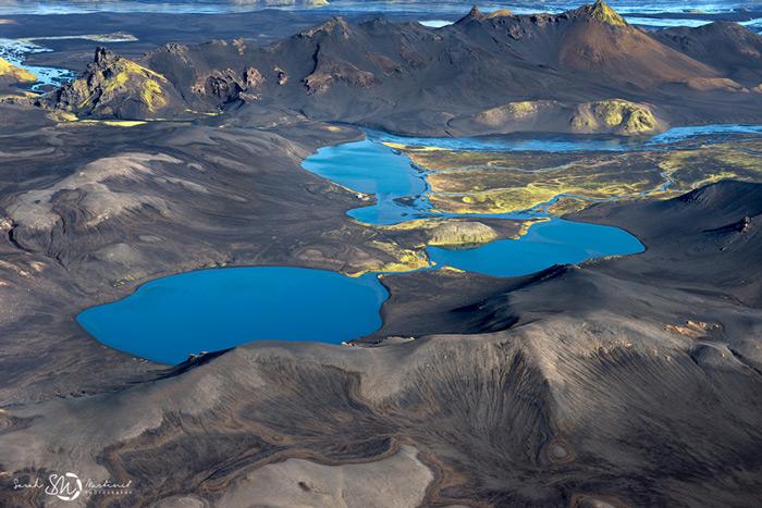Пейзажи Исландии в аэрофотографиях Сары Мартинет - №7