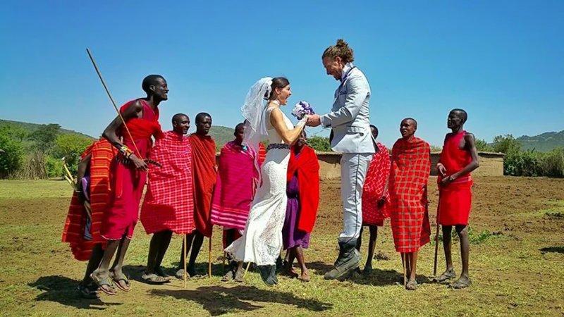 В деревне Масаи Мара, Кения