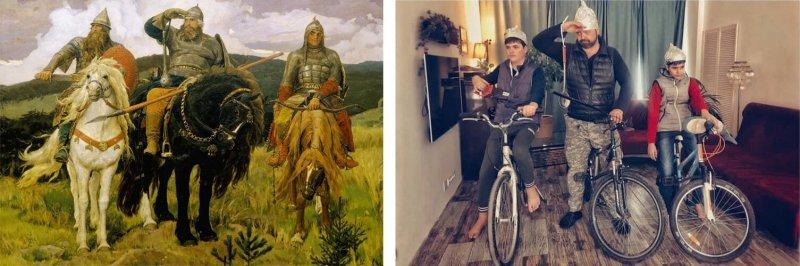 Люди изображают героев знаменитых картин - №1