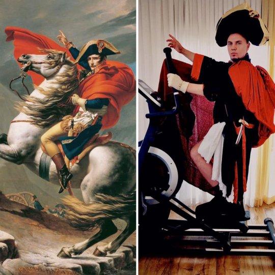 Люди изображают героев знаменитых картин - №17