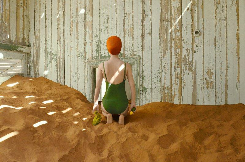 Фотосерия «Еда делает сюрреалистичные вещи в пустыне» - №8