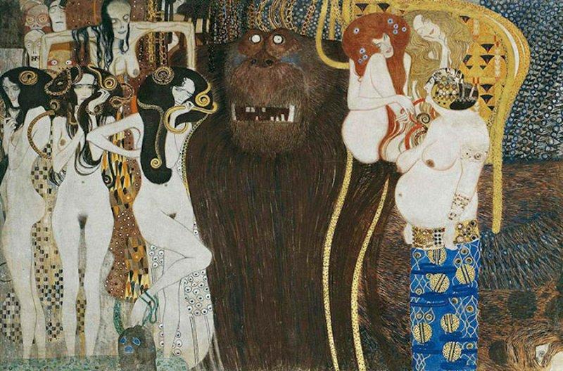 Модели воссоздают картины Гюстава Климта - №3