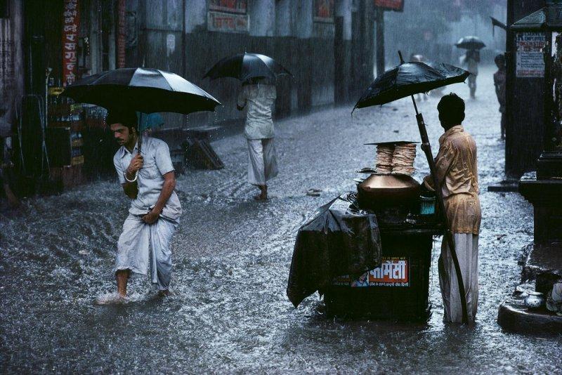 Муссон в Чандани Чоук, Дели, 1983
