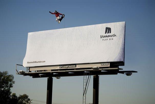 ТОП фото. Реклама курорта Mammoth: Играй по-большому
