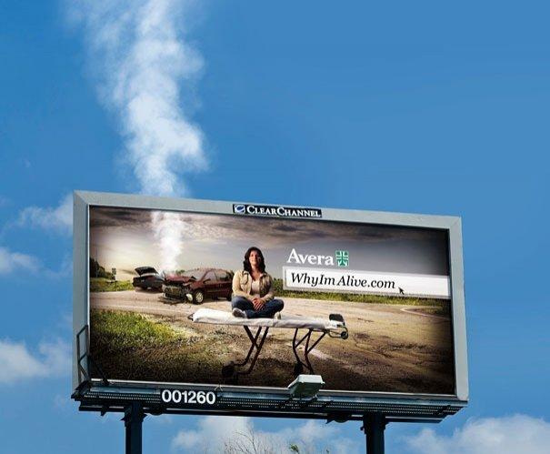 ТОП фото. Avera Health: Дымящийся биллборд
