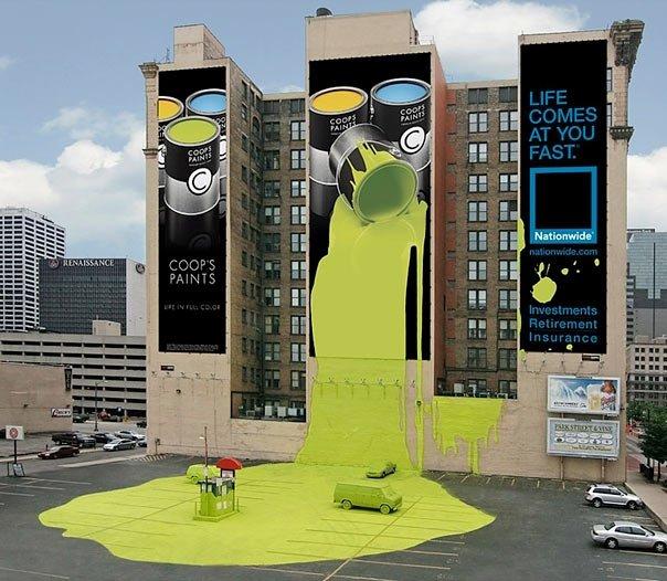 ТОП фото. Совместная реклама страховой компании Nationwide и красок Coop's Paints