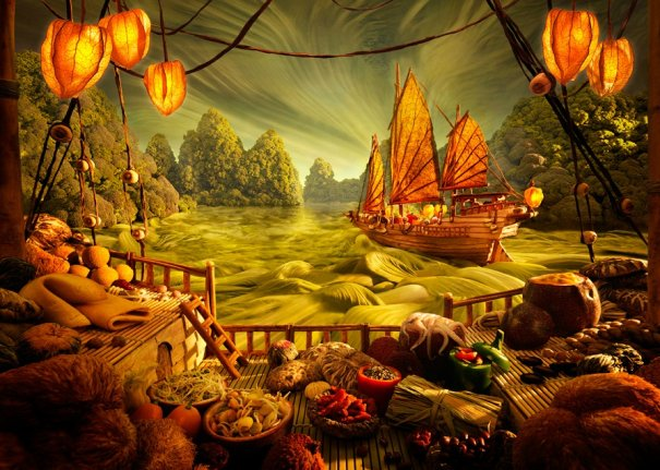 photo project - Carl Warner and his 'Foodscapes' - №7