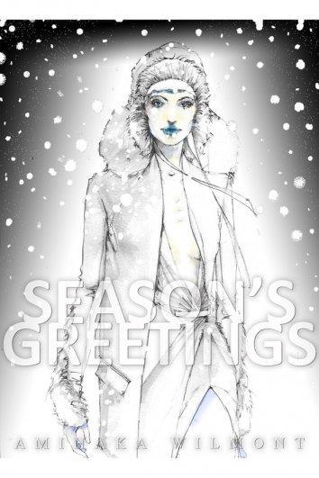 fashion - Рождественские открытки от Vogue! - №1