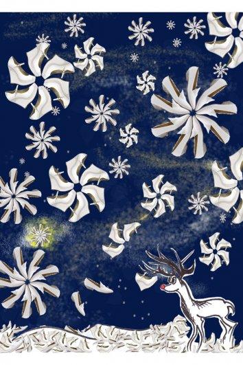 fashion - Рождественские открытки от Vogue! - №3