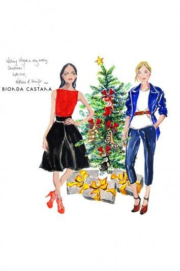 fashion - Рождественские открытки от Vogue! - №4