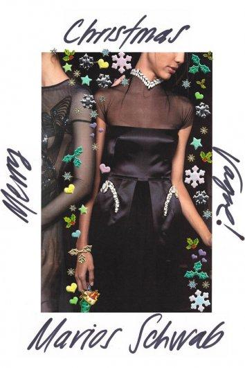 fashion - Рождественские открытки от Vogue! - №12