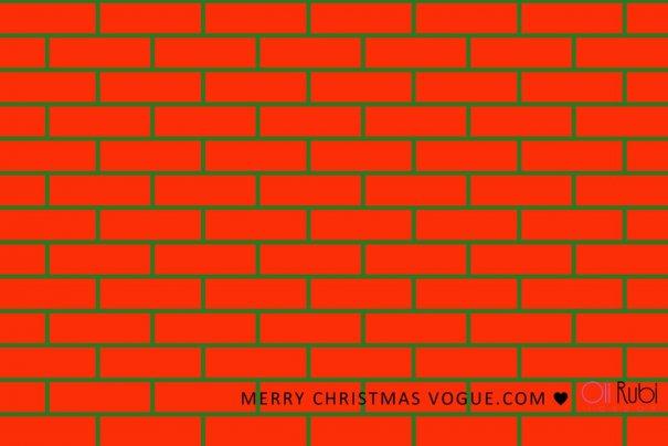 fashion - Рождественские открытки от Vogue! - №19