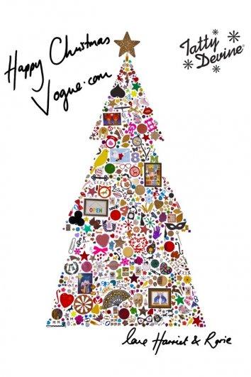 fashion - Рождественские открытки от Vogue! - №31