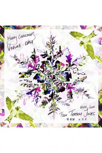 fashion - Рождественские открытки от Vogue! - №32