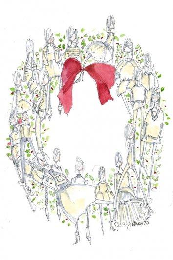fashion - Рождественские открытки от Vogue! - №34