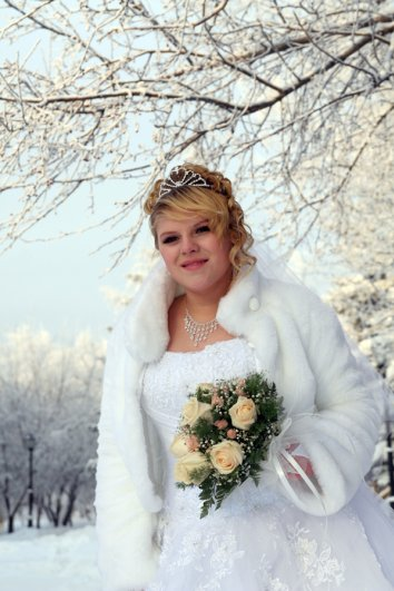 Зимняя свадьба — это всегда красиво!