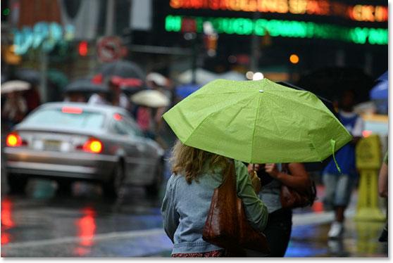 Уроки фотошопа: добавляем дождь на фото - №23