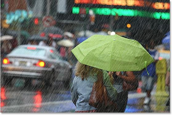 Уроки фотошопа: добавляем дождь на фото - №24