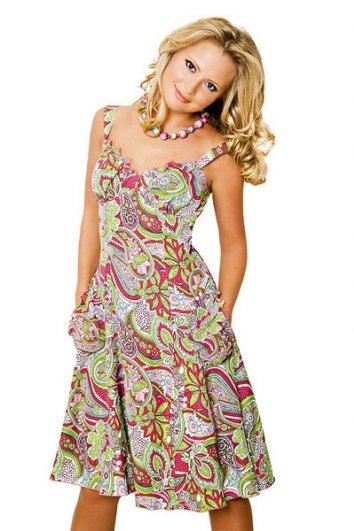 цветные платья фото
