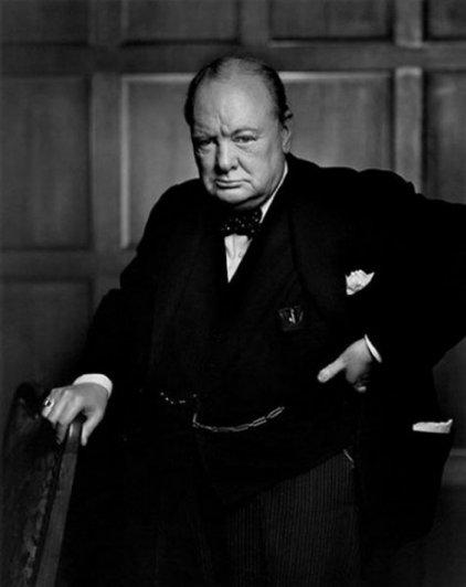 Фотограф Юсуф Карш. Портрет Черчиля.