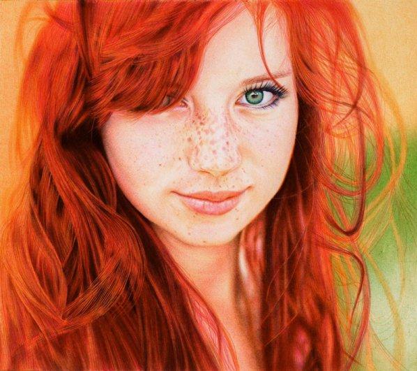 Портрет рыжеволосой девушки
