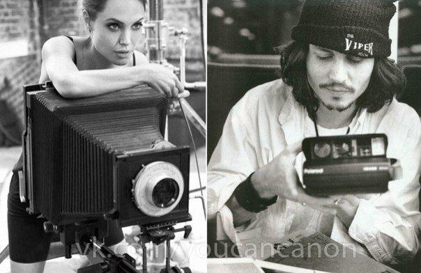 Знаменитые люди с фотоаппаратом в руках - №7