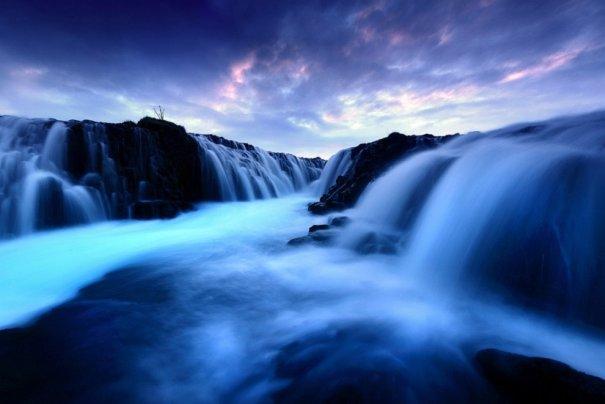 Водопад Брюарфосс, Исландия.