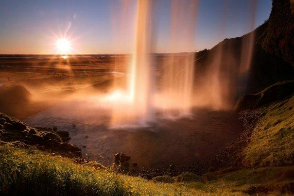 Водопад Селйяландсфосс, Исландия.