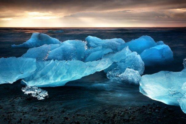 Ледниковая лагуна Екюльсаурлоун, Исландия.