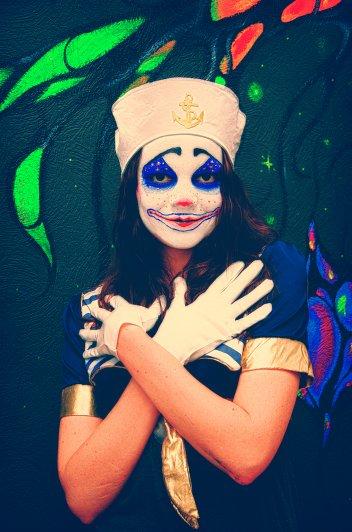 готовый клоун-морячок