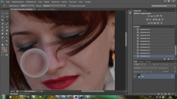Быстрая ретушь женского портрета - №8