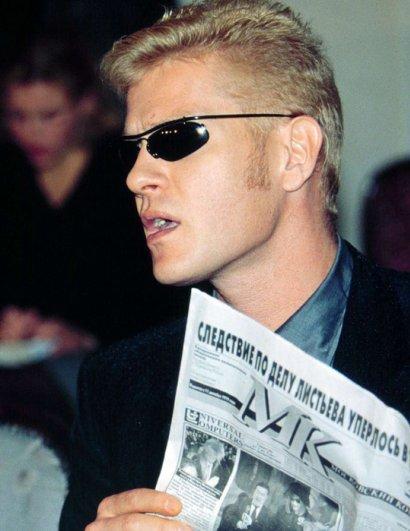 Иван Демидов во время пресс-конференции по поводу расследования убийства Владислава Листьева.   Автор: В. Васенин