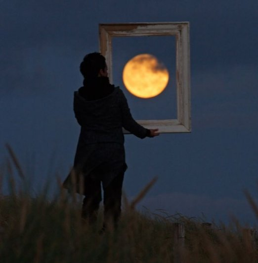 Ночная фото игра с Луной - №7