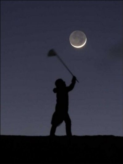 Ночная фото игра с Луной - №8