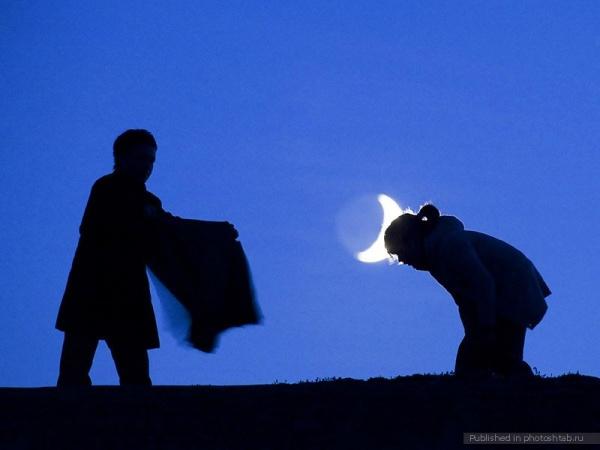 Ночная фото игра с Луной - №9