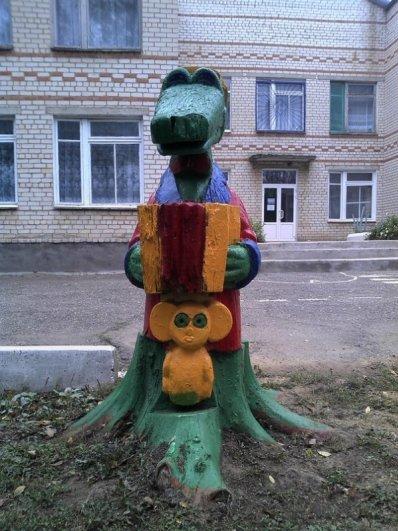 Немного Фото юмора! Деревянный русский арт дизайн - №6