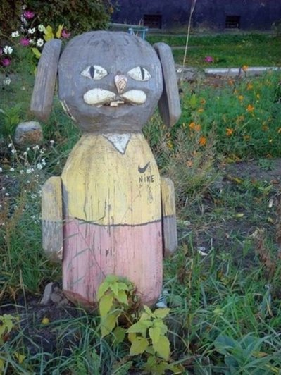 Немного Фото юмора! Деревянный русский арт дизайн - №14