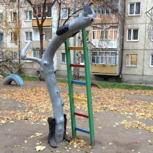 Немного Фото юмора! Деревянный русский арт дизайн - №21