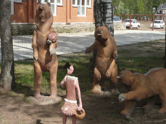 Немного Фото юмора! Деревянный русский арт дизайн - №22