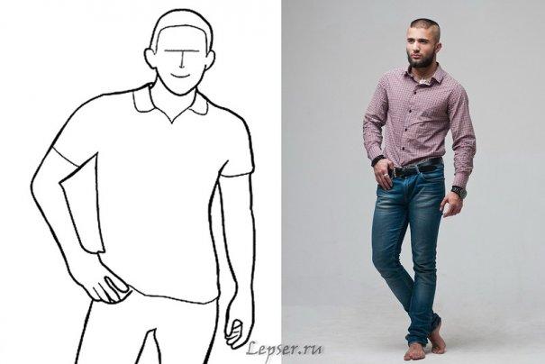 Лучшие позы для сильного мужского портрета - №3