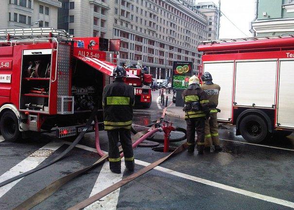 пожар в метро в Москве