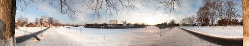 панорама города фото