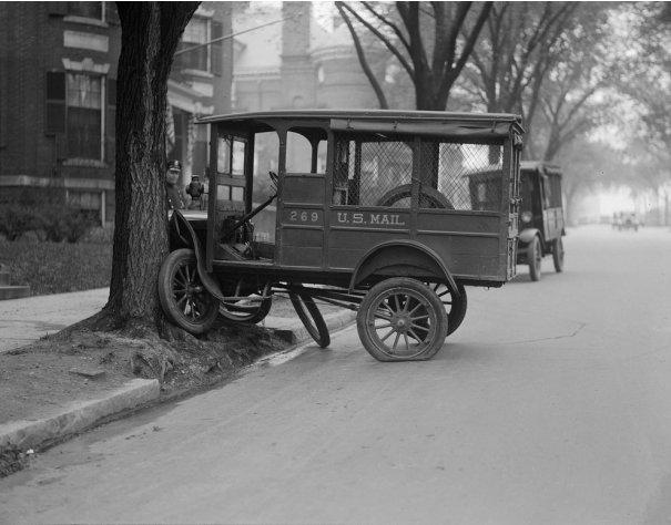 Фотографии самых первых авто аварий - №2