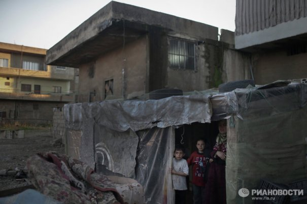 Новости в фотографиях - Сирийские беженцы в Ливане - №12