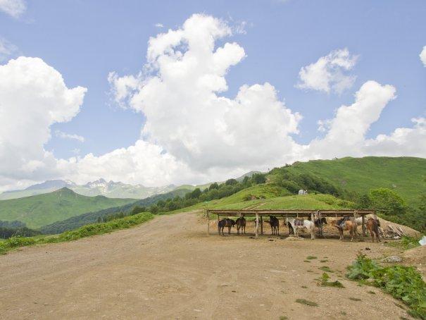 перевал «Чха» - здесь начался поход к озерам, здесь он благополучно и закончился.
