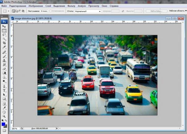 Урок Фотошопа. Качественная имитация Tilt-Shift эффекта - №1