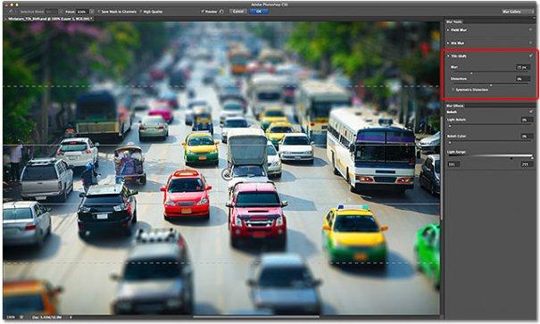 Урок Фотошопа. Качественная имитация Tilt-Shift эффекта - №7