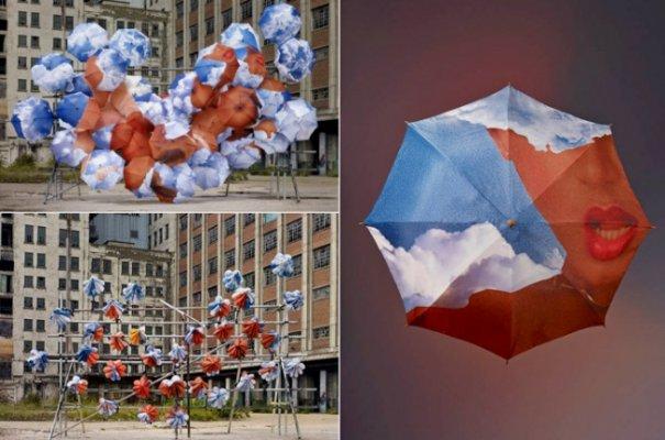 Зонтики как искусство - необычные фото картины - №7