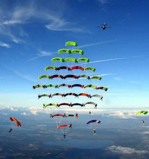 Самые сложные фигуры парашютизма - фото экстремального вида спорта - №1